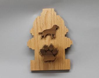 Dog leash holder, fire hyrdant shaped