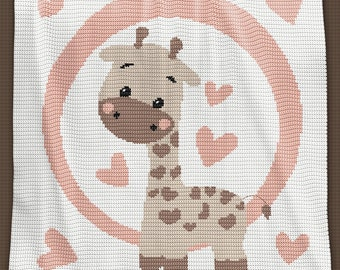 Crochet Blanket Pattern - Crochet Baby Blanket Pattern - Giraffe Blanket Pattern - Baby Afghans - Crochet Patterns - Giraffe Pattern graph