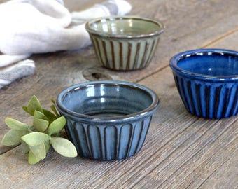 Ramekin – Pottery extra small casserole dish, Creme brulee dish, Ceramic, Stoneware, Handmade, Wheel thrown