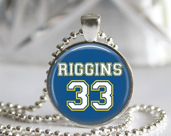 Friday Night Lights Tim Riggins #33 Jersey Pendant Necklace or Keychain