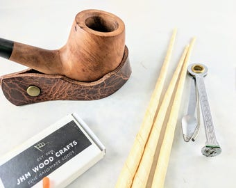 Leather Pipe and Cigar Rest