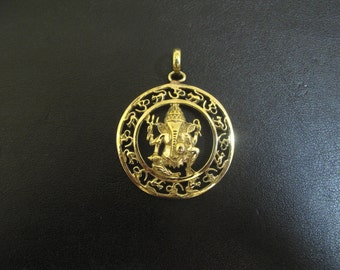 Brass Lord Ganesha pendant and Chain