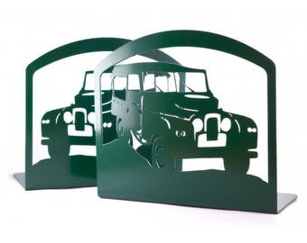 Land Rover Bookends metal art Book Ends