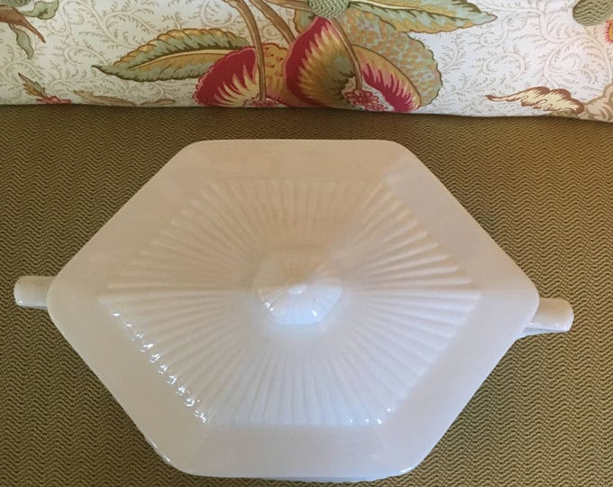 Adams Real English Ironstone Covered Vegetable Bowl Empress Pattern