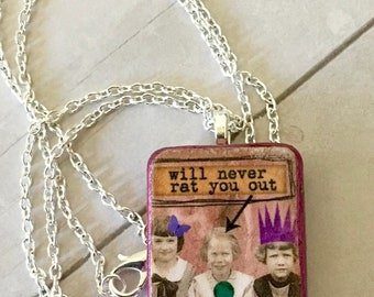 Best Friends  Dominoe Pendant