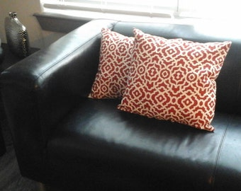 Red and White Throw Pillows