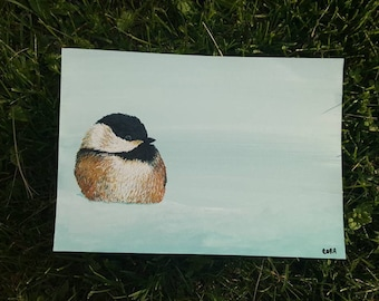 Original Chickadee Painting