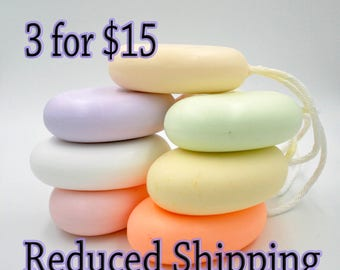 Soap On a Rope 3 bars for 15 Dollars