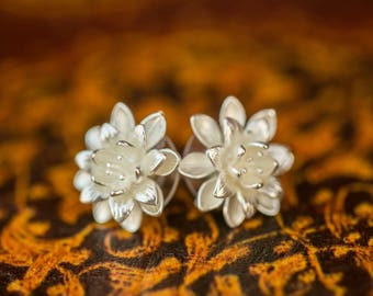 Lotus/Water Lily Stud Earrings