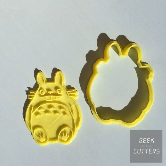 Totoro with Smile Cookie Cutter - *Dishwasher safe option* - 3D Printed