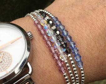 Unit bracelet Swarovski and Sterling Silver 925/1000.