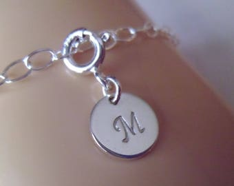 A-Z Personalized Initial Monogram Letter Charm - .925 Sterling Silver Jewelry - All Initials Available - FREE SHIPPING