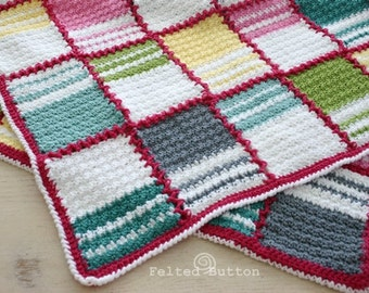 Crochet Pattern, Blanket Patch Me a Line, Baby, Teen, Adult