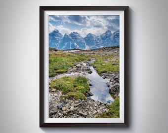 Alpine Trickle / Canadian Landscape Photography / Instant Digital Download / DIY wall print decor / Mountain picture