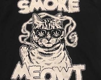 SmokeMeowt OG Cat tee
