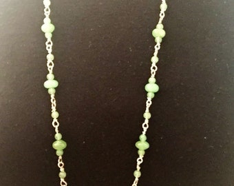 Necklace long sea green
