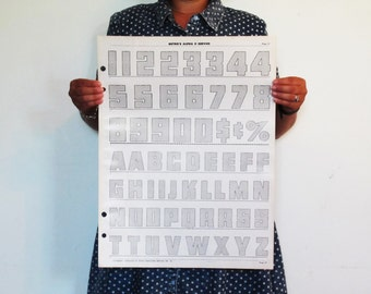 """Typography Poster - Alphabet & Punctuation - Modern Office Decor 16.5"""" x 22"""" (pg 27)"""