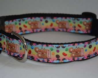Personalized Dog Collar - Candy Crush Logo