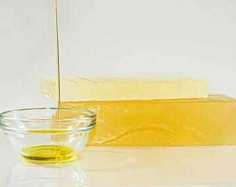Olive oil soap base and pour