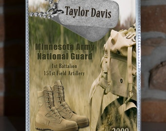 Soldier Photo Album - Army - National Guard - Gift for Mom - Thank you for your Service
