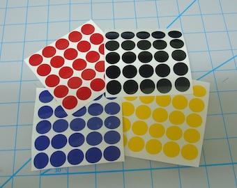 Polka dot vinyl decal sheet 25 each  4 sheets  100 dots total DIY