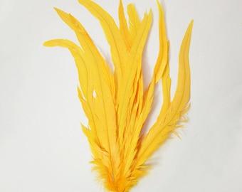 "Rooster Tail Satinette XXXLong - Tropical Mango, 14-16"" tall (20pcs)"