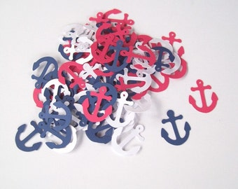 Anchor Confetti/ Party Decorating/ Birthday/ Supplies/ 100 Pieces
