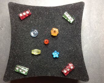 Multicolored plastic beads