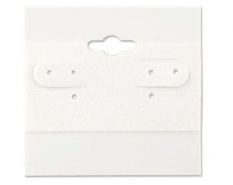 White Earring Cards - 100 Pcs