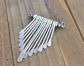Boho Necklace Silver, Bohemian Jewelry Necklace, Boho Silver Jewelry, Bohemian Necklace Silver, Silver Statement Necklace