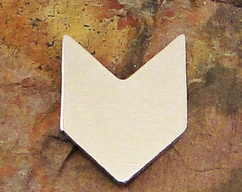 """5 Deburred 1"""" TALL CHEVRON *Choose Your Metal* Aluminum Brass Bronze Copper Nickel Silver Stamping Blanks Zigzag Geometric Tag ID Enameling"""