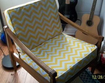 Custom made chair or love seat cushion covers
