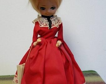 Vintage Big Eyed Southern Belle Doll