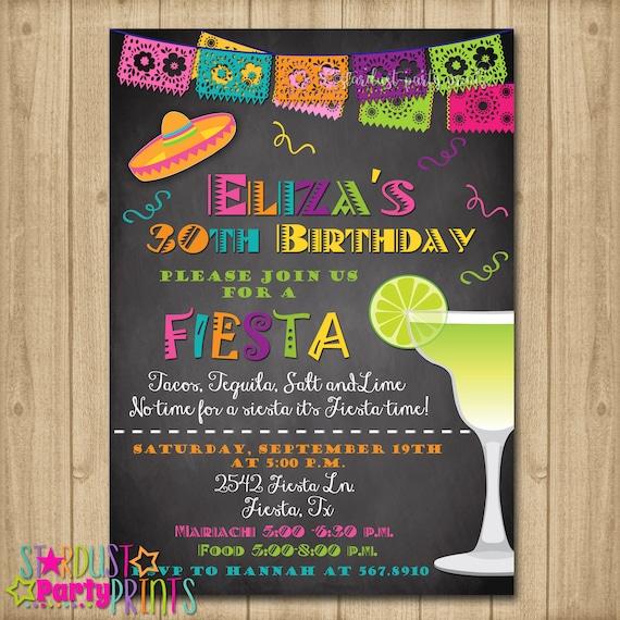 fiesta birthday invitation 30th birthday fiesta invitation