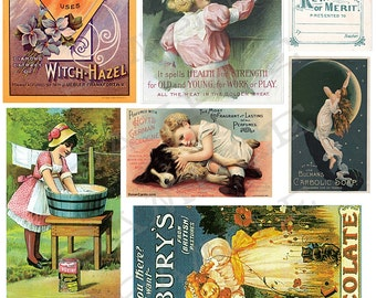Vintage ads Collage Sheet 4