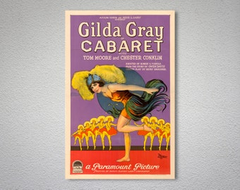 Gilda Gray in Cabaret Vintage  Movie Poster - Poster Paper, Sticker or Canvas Print / Gift Idea