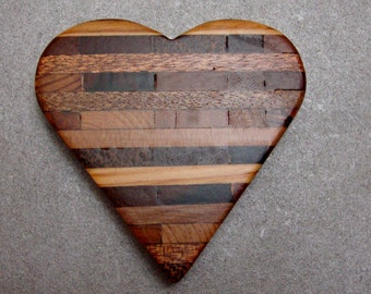 Laminated Heart from Reclaimed Woods