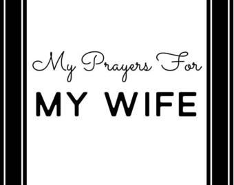 Prayer Scripture Cards for your Wife BLACK: Instant Digital Download