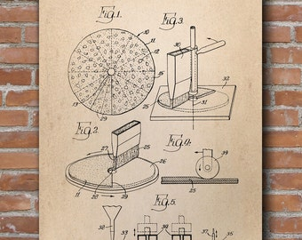 Method for Making Pizza Patent, Pizza Patent, Kitchen Wall Art, Restaurant Decor, Dining Room, Patent Poster - DA0657