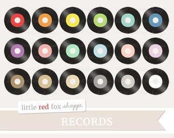 Record Clipart, Music Clip Art, Vinyl Record Clipart, Retro Music Clipart, Musical Clipart, Cute Digital Graphic Design Small Commercial Use