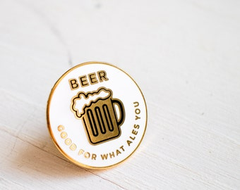 Beer pin - enamel pin - lapel pin - ale pin - beer drinker pin - enamel jewellery - beer gift - beer present