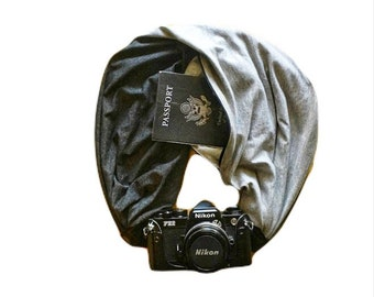 You Choose The Color Camera Strap with Lens Cap Pocket -  The Original Camera Scarf Strap With Pocket