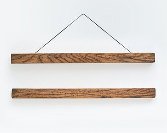 Wooden poster hanger TONE- well worn, aged and distressed looking wooden hanger