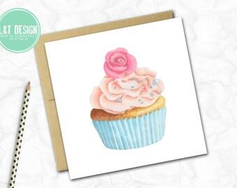 Pretty Cupcake Mini Card