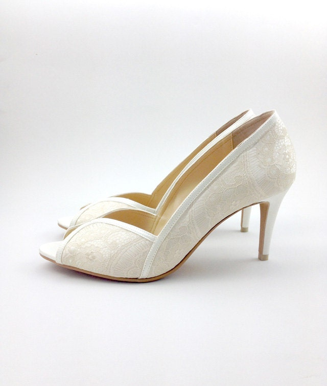 AMMIE & JOYCE Anna Lace Peep-Toe Pump  CLEARANCE SALE! Important: Clearance items are strictly non-refundable