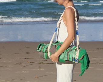 Macrame Beach Blanket Strap