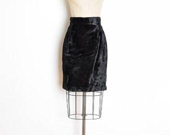 vintage 80s skirt, faux fur skirt, black fur skirt, high waisted skirt, pencil skirt, 80s clothing, raver clothing, fuzzy skirt, furry skirt