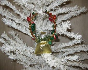 Christmas decoration hanging Santa bag