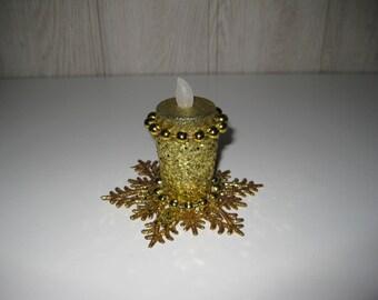 candle holder Golden Christmas decoration led