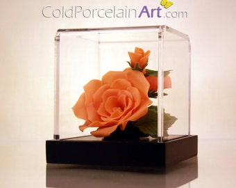 Orange Roses - Cold Porcelain Art - Made to Order
